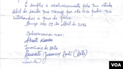 Carta a Nuno Dala