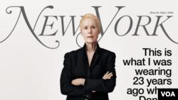 Nhà văn E. Jean Carroll xuất hiện trên trang bìa của tạp chí New York tuần trước