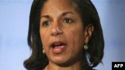 Đại sứ Hoa Kỳ tại Liên Hiệp Quốc Susan Rice kêu gọi Libya tôn trọng các cuộc biểu tình ôn hòa