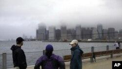 艾琳28日登陸紐約時