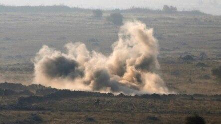 Giao tranh dữ dội bùng ra giữa các lực lượng Syria và các phiến quân tại vùng Cao nguyên Golan, ngày 1/9/2014.
