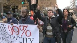 Occupy DC Marches to the Key Bridge (Raw Footage)