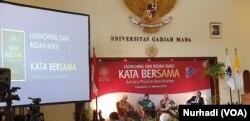 Kata Bersama merupakan edisi Indonesia untuk A Common Word disertai tulisan sejumlah tokoh.(Foto:VOA/Nurhadi)