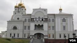 叶卡捷琳堡的滴血教堂(美国之音白桦拍摄)