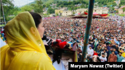 مریم نواز کئی روز سے کشمیر میں انتخابی مہم چلا رہی ہیں۔