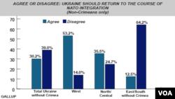 Gallup Poll - Should Ukraine return to NATO integration? - June, 2014