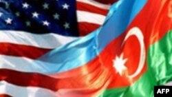 Amerika və Azərbaycan bayraqları