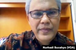 Ketua Yayasan Tahija, Trihadi Saptoadi dalam tangkapan layar. (Foto: VOA/Nurhadi Sucahyo)