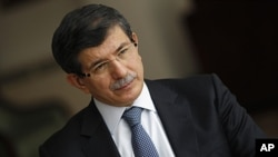 Turkey's Foreign Minister Ahmet Davutoglu in Ankara, February 8, 2012 (file photo).