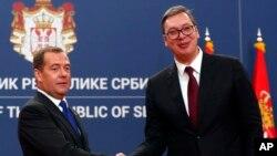 Medvedev i Vučić, arhivska fotografija