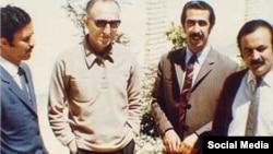 از راست به چپ: محمد حقوقی، اورنگ خضرایی، ابوالحسن نجفی و هوشنگ گلشیری
