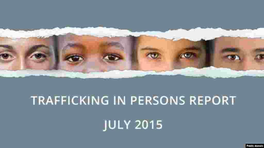 La couverture du rapport 2015 du Département d'Etat américain sur la traite des êtres humains, publié le 27 juillet 2015.