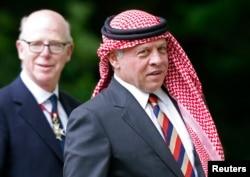 FILE - King Abdullah of Jordan is shown in London May 11, 2014.