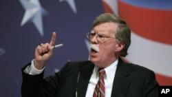 존 볼턴 전 유엔주재 미국대사가 지난 2010년 2월 워싱턴에서 열린 보수단체 행사에서 연설하고 있다. (자료사진)