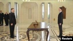 Riyad Hijab et Bachar al-Assad