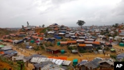 FILE - A view of the Kutupalong Rohingya refugee camp in Cox's Bazar district, Bangladesh, June 2, 2018.
