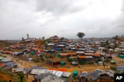 FILE - A view of the Kutupalong Rohingya refugee camp that U.N. Secretary-General Antonio Guterres visited Monday in Cox's Bazar district, Bangladesh, June 2, 2018.