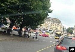 عکسی از حواشی محل حمله در شهر تورکو