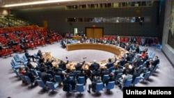 Suasana pertemuan Dewan Keamanan PBB.