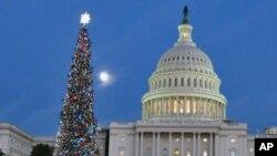 圣诞季节的国会山