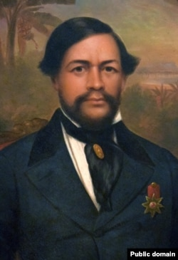 Portrait by an unknown artist of King Kamehameha III, who ruled from 1825 to 1854 and united Hawaiians under a constitutional monarchy.