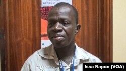 Ousmne Boudaone, administrateur d'Ouaga Films Lab en séance, à Ouagadougou, le 24 septembre 2017. (VOA/Issa Napon)