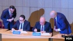 Azərbaaycan-ABŞ biznes forumu- səndələrin imzalanması