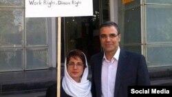 نسرین ستوده وکیل دادگستری و همسرش رضا خندان، آرشیو