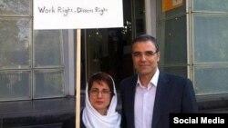 نسرین ستوده وکیل دادگستری و همسرش رضا خندان