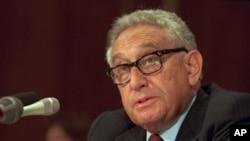 هنری کیسنجر در سال های ۱۹۷۳ تا ۱۹۷۷ وزیر امور خارجه آمریکا بود.