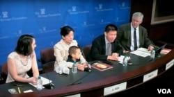 美國保守派智庫傳統基金會舉辦研討會,探討中國亟待解決的宗教迫害加劇問題。(美國之音蕭雨拍攝)