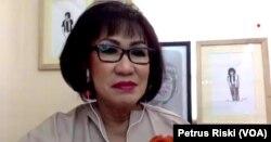 Deputi Bidang Penelitian Fundamental Lembaga Eijkman, Prof. Herawati Sudoyo dalam sebuah webinar. (Foto: VOA/Petrus Riski)