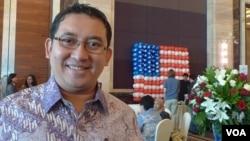Wakil Ketua DPR Fadli Zon dalam sebuah acara di Jakarta. (VOA/S. Schonhardt)