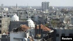 지난 23일 촬영한 시리아 홈스시. 내전으로 많은 건물이 파괴됐다.
