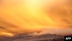 Вид на вулкан у Чилі