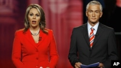 Ambos encuentros serán moderados por Jorge Ramos y María Elena Salinas, quienes conducen el noticiero de Univisión.