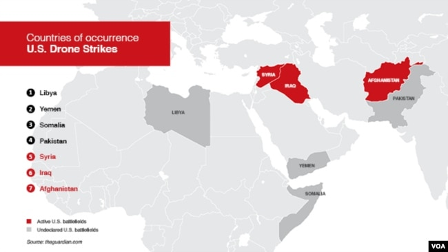 US Releases Report On Civilians Killed In Drone Airstrikes - Us drone strikes map