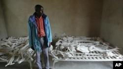 Des restes de victimes du génocide rwandais