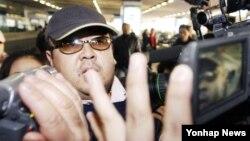 北韓領導人的兄長金正男資料照。
