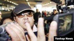 Kim Jong-nam, putra tertua mendiang diktator Korea Utara, Kim Jong-il, di bandar udara Beijing, Februari 2007.