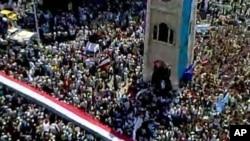 ہاما شہر میں حکومت مخالف احتجاج کا ایک منظر (فائل فوٹو)