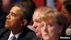 صدر اوباما، وزیر اعظم نواز شریف، چانسلر مرخیل