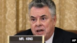 Representative Peter King, chairman of the House Homeland Security Committee, on Capitol Hill, March 10, 2011