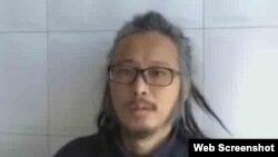 逃亡中的畫家華湧12月11日發視頻報平安。(華湧推特圖片)