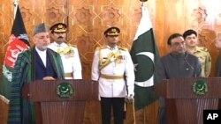 پاک افغان صدور کی اسلام آباد میں مشترکہ پریس کانفرنس