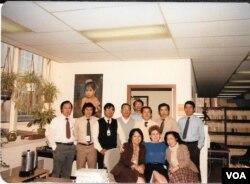 ຄະນະທີມງານຂອງວີໂອເອ ພະແນກພາສາລາວ ໃນປີ 1985