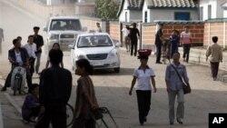 북한 라선 지구의 주민들. (자료사진)