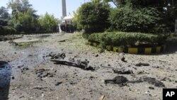 敘利亞軍隊總部的爆炸現場