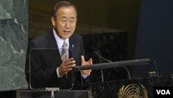 El secretario General de la ONU, Ban Ki-moon, dijo que el dinero donado será suficiente para ayudar a millones de personas.