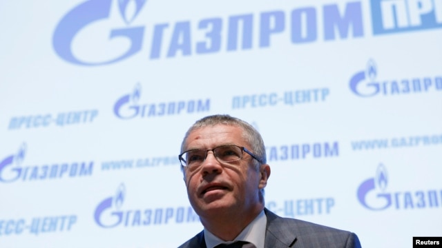 Alexander Medvedev, deputy chief executive of Russia's Gazprom, takes part in a news conference in Moscow, June 3, 2014.